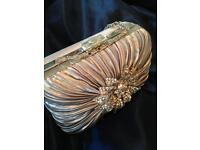 Beautiful silver purse with jewelled flower design