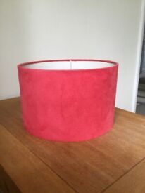 Red suede light shade