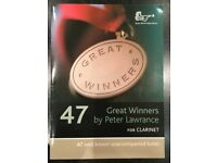 47 Great Winners music book by Peter Lawrence for clarinet