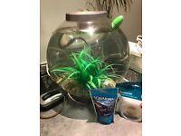 BiOrb 30L fish tank aquarium with Air Pump and Light + fish food pellets + new filter!