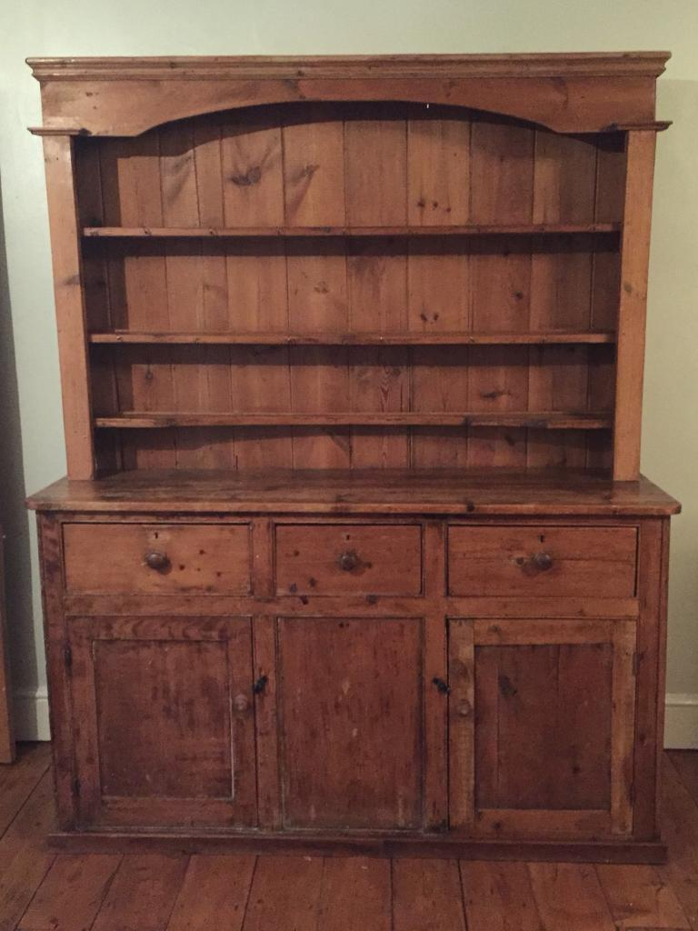 Antique pine dresser (free local delivery)