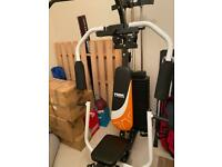 York fitness multi gym 100kgs weights must dismantle and bench