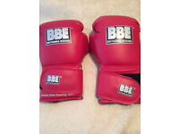 BBE red boxing gloves brand new unopened in packet