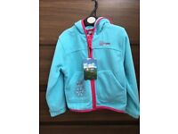 GIRLS HI GEAR FLEECE JACKET BRAND NEW WITH TAG ON AGE 5-6