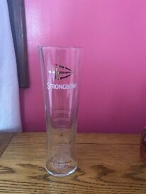 Brand new long strongbow pint glasses