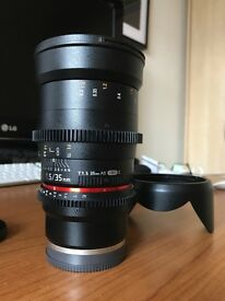 Samyang 35mm T1.5 Sony E-mount Perfect Condition