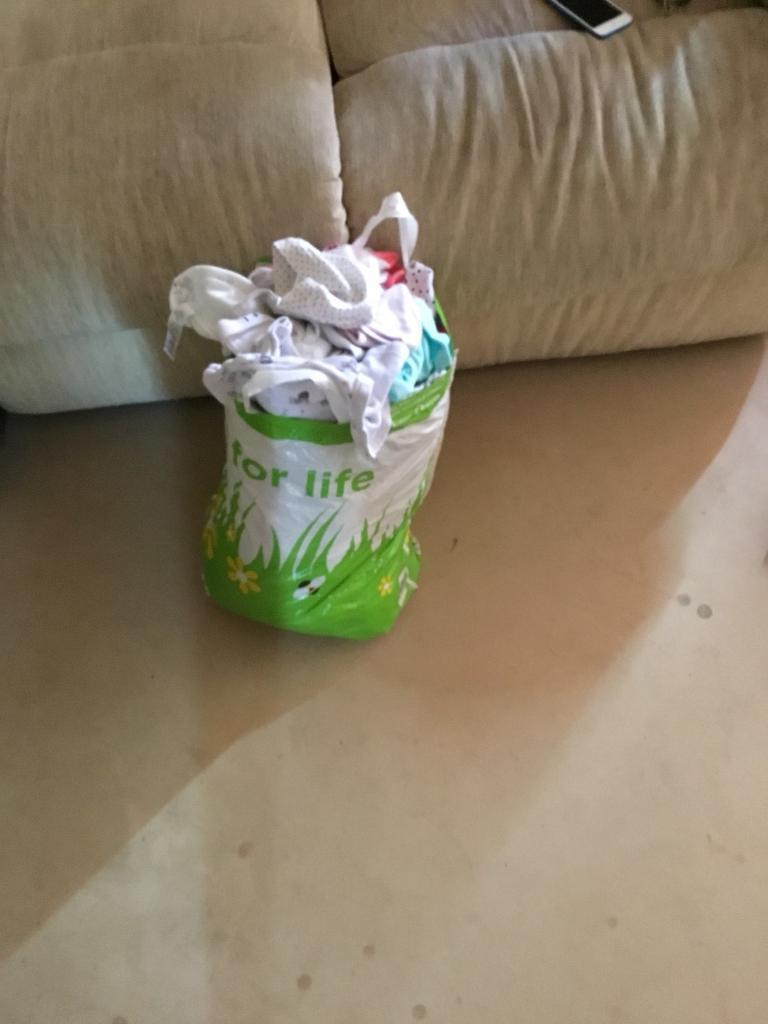 Bag of newborn clothing