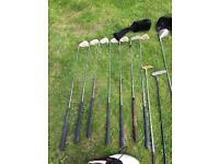 Dunlop golf clubs & shoes
