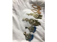 Six earring , four ring & three necklace