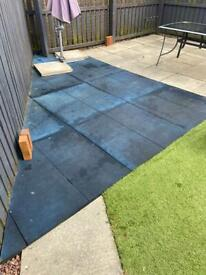 Rubber Playground Safety Tiles