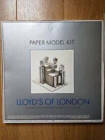 Excellent condition Lloyds of London paper model kit