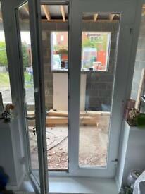 Upvc white french doors.