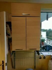 Storage cabinets.