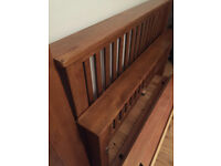 Sold oak beautiful king size bed frame in very good condition
