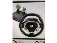 Thrustmaster steering wheel and pedals