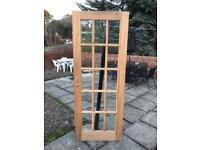 Mahogany glazed internal door
