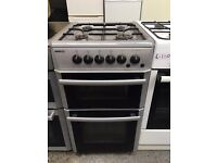 BEKO free standing full gas cooker 50 cm width silver in good condition & fully working order