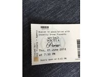 My dad wrote a porno x 3 tickets @ Royal Albert Hall, Thurs 21st June