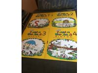 Collection of kids learning books cards and cd