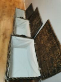 Vintage Wicker Storage Trunks / Chests (S, M & L set or individual)
