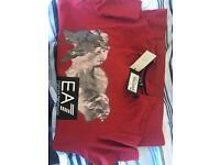 Armani red t shirt