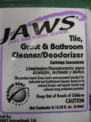 42 Jaws 3410 Tile Grout Bathroom Cleaner Deodorizer Concentrate Cartridges