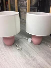 Pink bedside table lamps