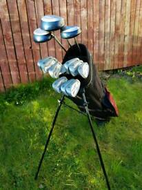 Full set Peter alias Air power golf clubs and bag