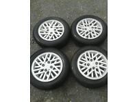 Ford alloys wheels and tyres Escort fiesta Sierra
