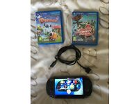SONY PS VITA CHARGER 2 GAMES FULL WORKING ORDER