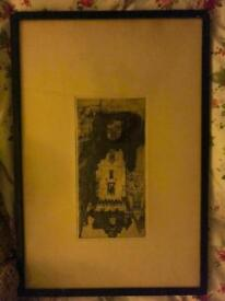 Etching by famous Scottish artist 1900s dy Cameron original antique painting Scottish