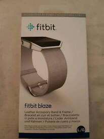 Fitbit blaze grey leather strap