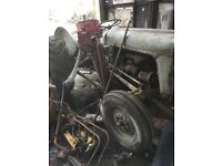 massey ferguson tractor with front loader needs tlc and restoring 07892678592yes