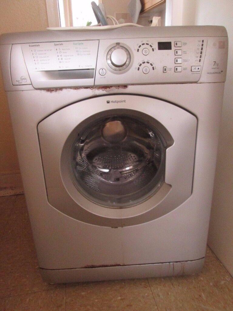 Hotpoint Washing Machine Silver Grey 7kg Aquarius Wmf760