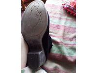 Size 5 black rocket dog ankle boots
