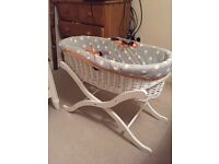 Mylene Klass Moses basket with stand