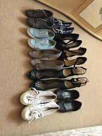 Job lot size 3/4 ladies shoes - 3 pairs never worn! Inc. Fred Perry