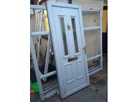 PVC door and frame with side lights free local delivery if required