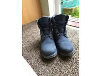 Ladies blue Timberland boots, Size 7
