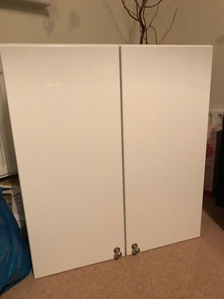 Ikea white gloss bathroom cabinet