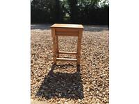 Small Wooden Oak Stool Side Table
