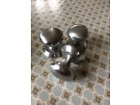 Satin Nickel Mortice Knobs - 8 pairs; good condition