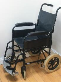 INVACARE Transit Wheelchair sturdy 16 x 16 inch seat compact folding