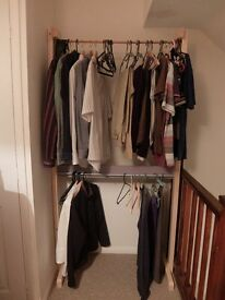 Clothing hanger shelve wardrobe