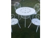 Garden Table and Chairs Traditional 4 Seater Dining Set
