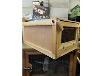 Two guinea pig hutches for sale