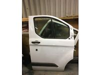Ford transit custom drivers side front door complete
