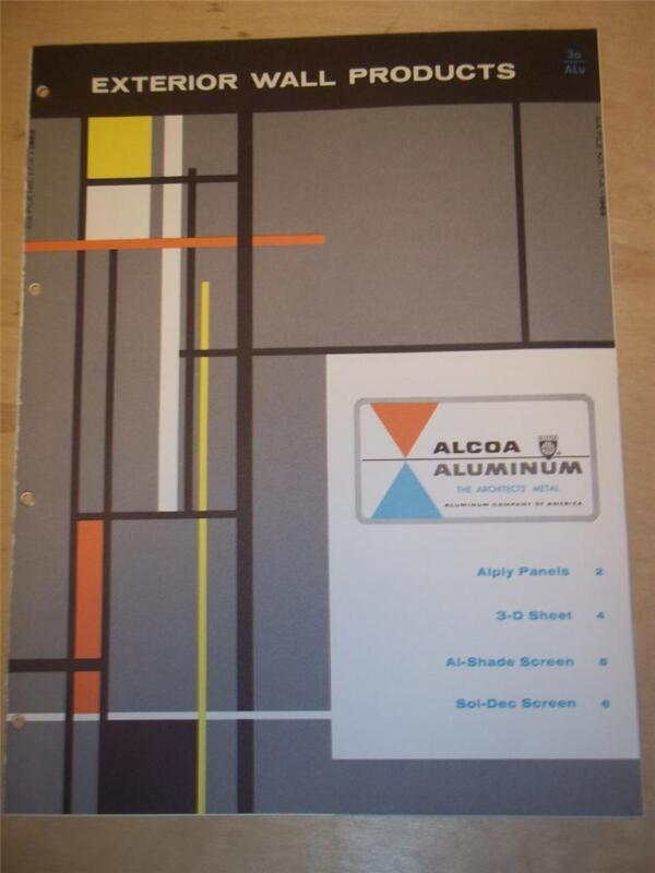 Alcoa Aluminum Company Catalog~Asbestos Alply Wall Panels~1962