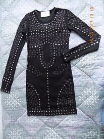 Christopher Kane Mirror Black Dress for Top Shop size 8 New!