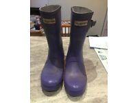 Lilac Hunters Wellington Boots - Size 4